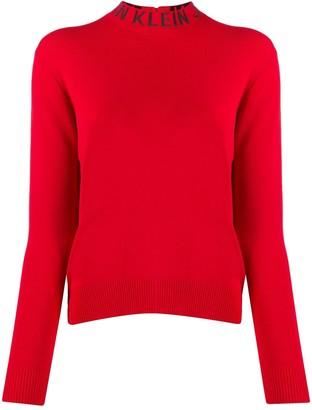 Calvin Klein Jeans Logo Collar Fine Knit Sweater