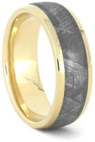 Etsy Gibeon Meteorite Wedding Band, 10k Yellow Gold Ring For Men, Handmade Outer Space Jewelry