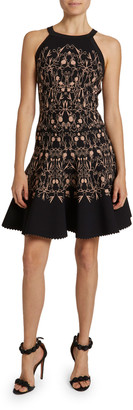 Alaia Closerie Print Jersey Halter Dress