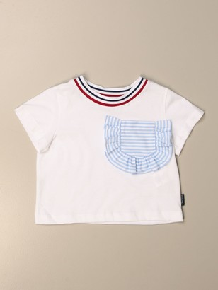 Simonetta Cropped Cotton T-shirt With Patch Pocket