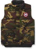 Canada Goose Freestyle Camouflage-Print Quilted Shell Down Gilet