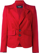 DSQUARED2 cropped peaked lapel blazer - women - Cotton/Polyester/Spandex/Elastane/Viscose - 42