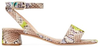 Kate Spade Lucia Snakeskin-Embossed Leather Sandals