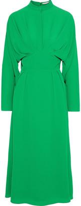 Emilia Wickstead Autumn Pleated Crepe Midi Dress
