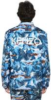 Kenzo Tropical Ice Print Nylon Bomber Jacket