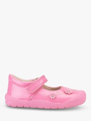 Start Rite Start-rite Children's Flex T-Bar Riptape Pre-Walker Shoes, Bright Pink Glitter