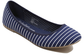 George Striped Canvas Ballet Shoes