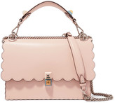 Fendi Kan I Scalloped Leather Shoulder Bag - one size