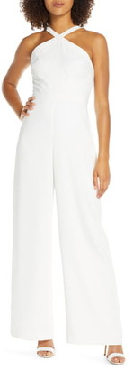 Ever New Ally Embroidered Halter Jumpsuit