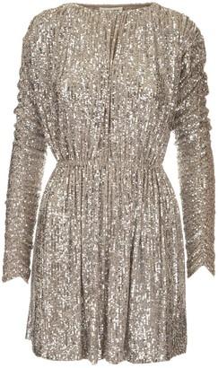 Saint Laurent Sequins Embellished Mini Dress