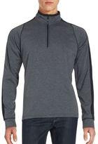 Hawke & Co Ribbed Mockneck Sweatshirt