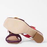 Paul Smith Women's Colour-Block Suede 'Roz' Heeled Sandals
