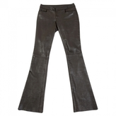 Gucci Brown Leather Trousers
