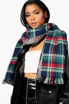 boohoo Millie Tartan Check Blanket Scarf