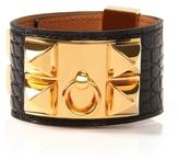 Black Matte Alligator Collier de Chien Bracelet