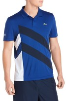 Lacoste Men's Asymmetrical Colorblocked Polo