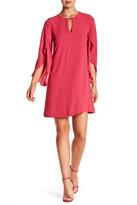 Jessica Simpson Keyhole Flutter Sleeve Dress
