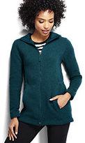 Lands' End Women's Petite 200 Everyday Sweater Fleece Parka-Rich Plum