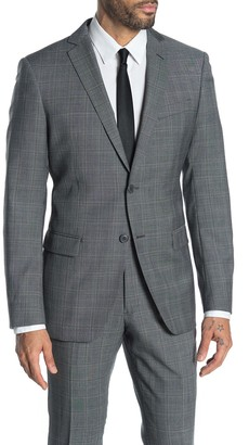 John Varvatos Bedford Grey Check Two Button Notch Lapel Suit Separates Jacket