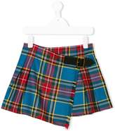 Burberry checked mini skirt