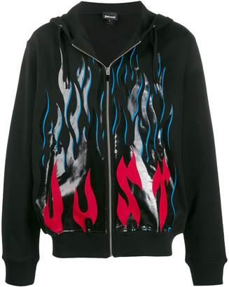 Just Cavalli flame-print hoodie