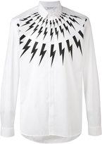 Neil Barrett lightning bolt shirt - men - Cotton - 37