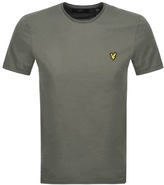 Lyle & Scott Plain Pick Stitch T Shirt Green