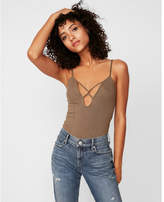 Express one eleven strappy thong bodysuit