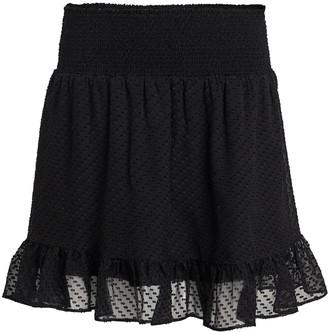 Intermix Rena Swiss Dot Silk Skirt