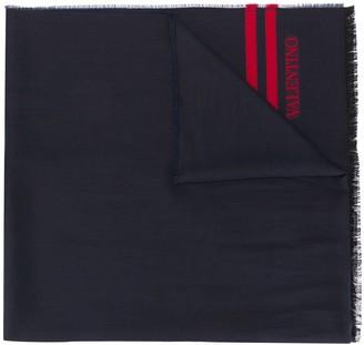 Valentino Stripe Detail Scarf