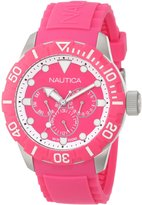 Nautica Women's Nsr 101 N13641G Silicone Quartz Watch