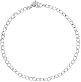 Loree Rodkin 14kt white gold diamond small Flinstone chain bracelet