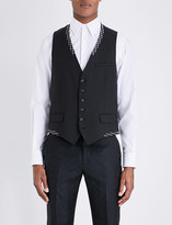 Alexander McQueen Patterned-trims wool and mohair-blend waistcoat