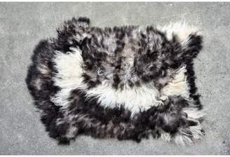 "Millwood Pines Burney Animal Print Handmade 2'2"" x 3' Sheepskin Cream/Brown Indoor / Outdoor Area Rug Millwood Pines"