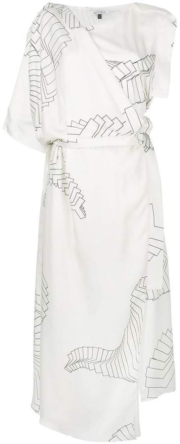 Krizia asymmetric printed dress