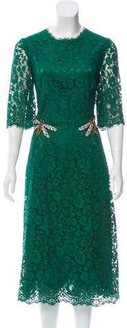 Dolce & Gabbana Crystal-Accented Lace Dress