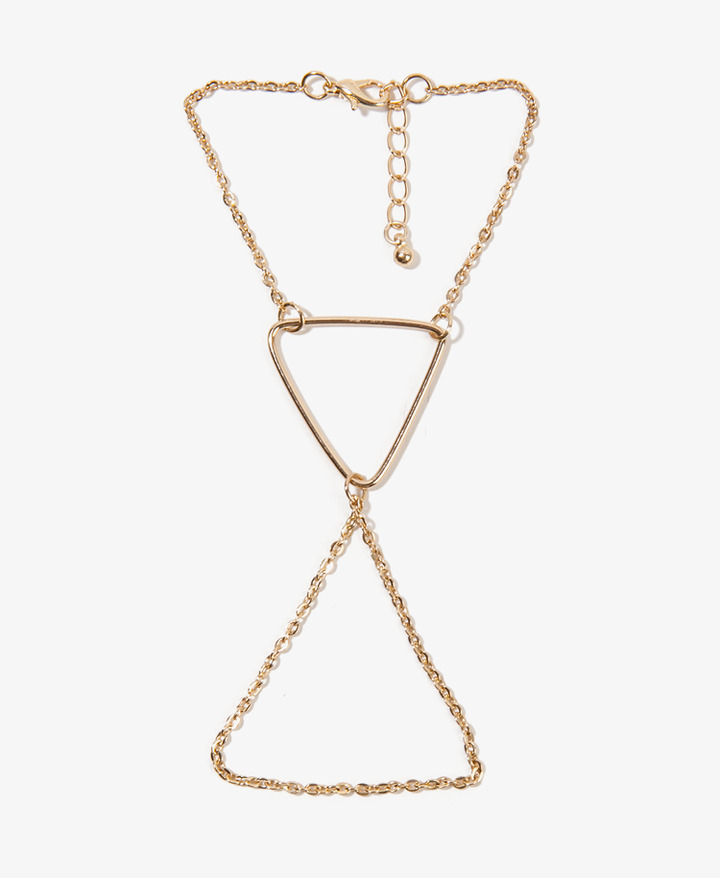 Forever 21 Triangle Charm Hand Chain