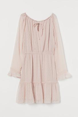 H&M Short Chiffon Dress - Pink