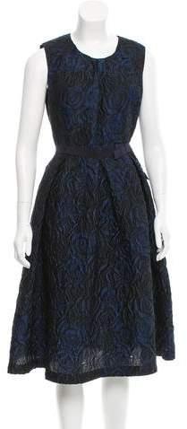 Mantu Rose-Patterned Jacquard Dress w/ Tags