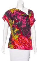 Trina Turk Silk Abstract Print Top