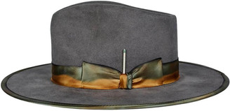 Nick Fouquet Granite Medianoche Wide-brim Fedora Hat