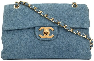 Chanel Pre-Owned 1990's Denim Classic Flap Chain Jumbo bag