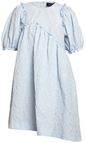 Simone Rocha Puff-Sleeve Jacquard Babydoll Dress