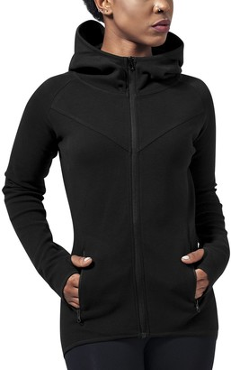 Urban Classics Women's Ladies Athletic Interlock Zip Hoody Sports