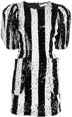 Rotate by Birger Christensen Striped Sequin Cocktail Dress