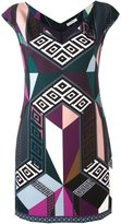 Versace printed fitted dress - women - Polyester/Spandex/Elastane/Viscose - 44