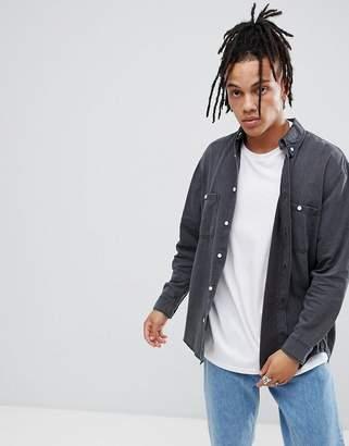 Cheap Monday Overdye Denim Shirt-Gray