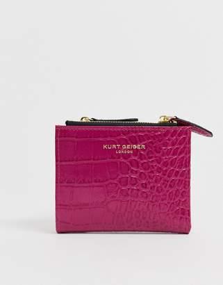 Kurt Geiger London Leather Fuchsia Mini Purse-Pink