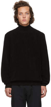 HUGO Black Wool Slusson Turtleneck