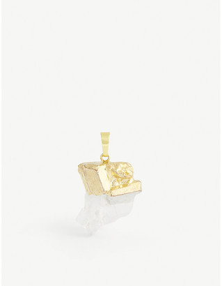 Crystal Haze 18k Gold-Plated And Clear Quartz Pendant